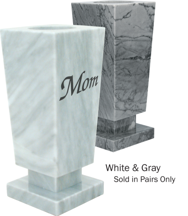 Square Marble Vases