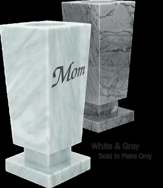 Square Marble Vases